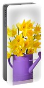 Daffodil Display Portable Battery Charger by Amanda Elwell