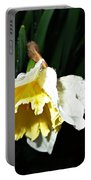 Daffodil In The Rain 2 Portable Battery Charger