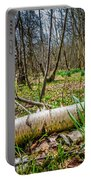Daffodils And Birch Portable Battery Charger