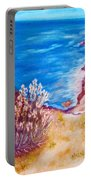 Daffodils At The Beach Portable Battery Charger