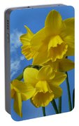 Daffodils In The Sky Portable Battery Charger