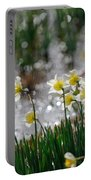 Daffodils On The Shore Portable Battery Charger
