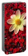 Dahlia And Kalanchoe Portable Battery Charger