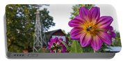 Dahlia Bee And Windmill Portable Battery Charger