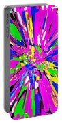 Dahlia Flower Abstract #1 Portable Battery Charger