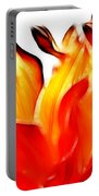 Dahlia On Fire Portable Battery Charger