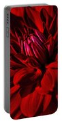 Dahlia Red Portable Battery Charger
