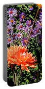 Dahlias And Asters Portable Battery Charger