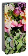 Dahlias And Hydrangeas Bouquet Portable Battery Charger