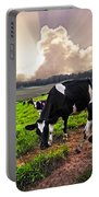 Dairy Cows At Sunset Portable Battery Charger