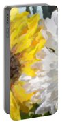 Daisies And Sunflowers - Impressionistic Portable Battery Charger