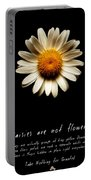 Daisies Are Not Flowers Fractal Version Portable Battery Charger