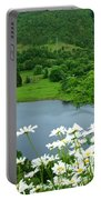 White Daisies At Queens View Portable Battery Charger