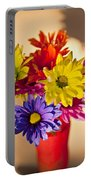 Daisies In A Vase On Shelf Portable Battery Charger
