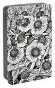 Daisies In Relief Portable Battery Charger