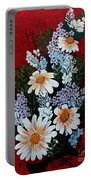 Daisies Lilacs And Forget Me Nots Portable Battery Charger