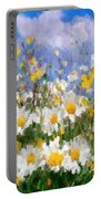 Daisies On A Hill - Impressionism Portable Battery Charger
