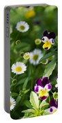 Daisy And Pansy Mix Portable Battery Charger