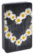 Daisy Heart Portable Battery Charger