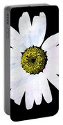Daisy On Black Portable Battery Charger