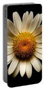 Daisy On Black Square Portable Battery Charger