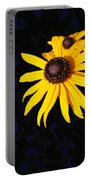 Daisy On Dark Blue Portable Battery Charger