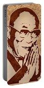 Dalai Lama Original Coffee Painting Portable Battery Charger