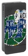 Dallas Mavericks Basketball Team Retro Logo Vintage Recycled Texas License Plate Art Portable Battery Charger