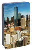 Dallas Skyline As Seen From Reunion Portable Battery Charger