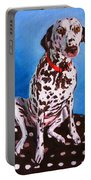 Dalmatian On Spotty Cushion Portable Battery Charger