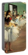 Dance Examination Portable Battery Charger by Edgar Degas