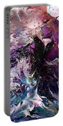 Dance In The Seas Portable Battery Charger by Rachel Christine Nowicki