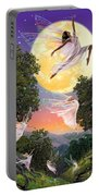Dance Of The Moon Fairy Portable Battery Charger by Garry Walton