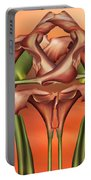 Dance Of The Orange Calla Lilies II Portable Battery Charger
