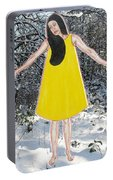 Dancer In The Snow Portable Battery Charger