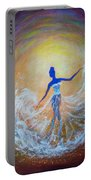 Dancer In White Dress Portable Battery Charger