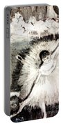 Dancer With A Bouquest Of Flowers By Edgard Degas Portable Battery Charger