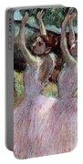Dancers In Violet Dresses Portable Battery Charger