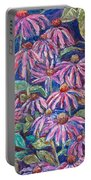 Dancing Coneflowers Portable Battery Charger