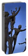 Dancing Figures Portable Battery Charger by Brian Jannsen