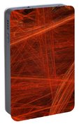 Dancing Flames 1 H - Panorama - Abstract - Fractal Art Portable Battery Charger