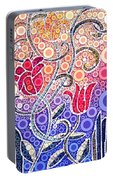 Dancing Flowers At Sunrise Portable Battery Charger