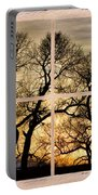 Dancing Forest Trees Picture Window Frame Photo Art View Portable Battery Charger
