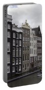 Dancing Houses Damrak Canal Amsterdam Portable Battery Charger