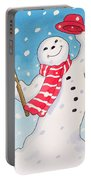 Dancing Snowman Portable Battery Charger by Lavinia Hamer