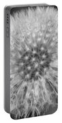 Dandelion Fluff In Black And White Portable Battery Charger