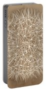Dandelion Marco Abstract Brown Portable Battery Charger