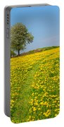 Dandelion Meadow And Alone Tree  Portable Battery Charger