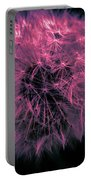 Dandelion Red Portable Battery Charger