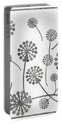 Dandelion Seeds Grey Portable Battery Charger